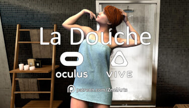Imagine you were invisible, what would you do? Try La Douche, Virtual Reality Porn game